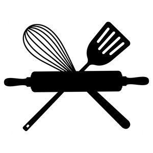 Baking clipart silhouette. Design store icon sziluettek