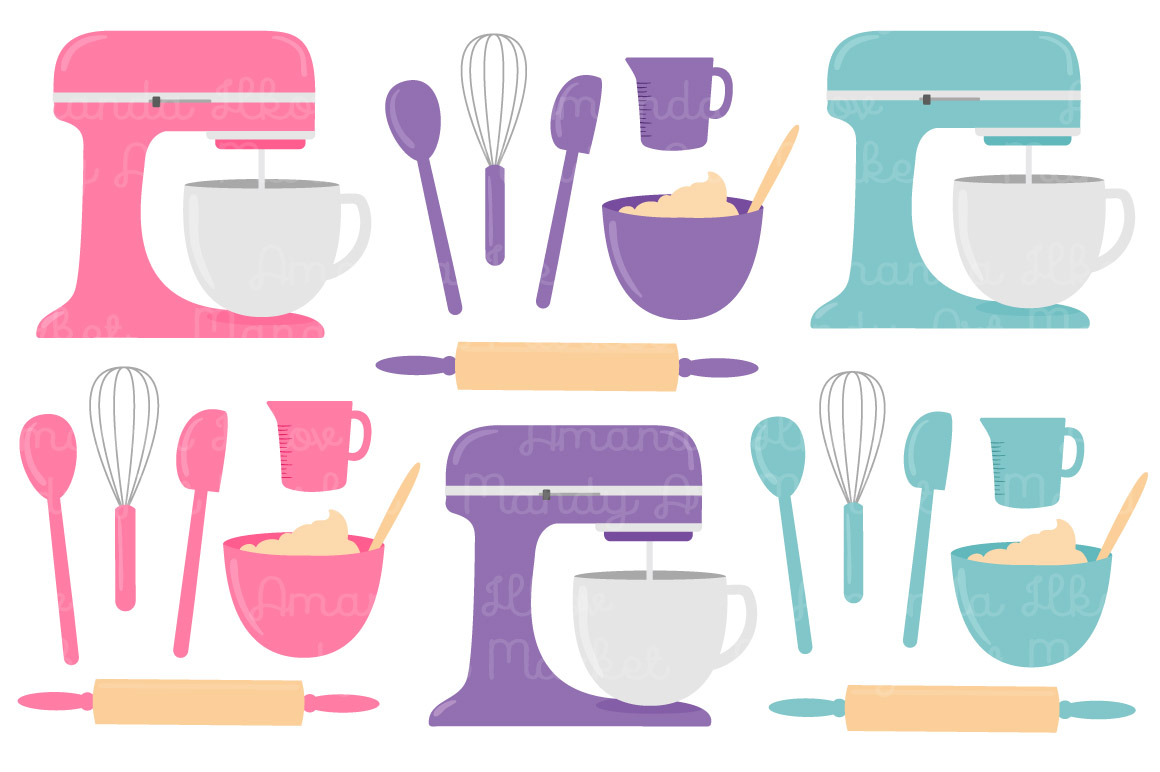 Baking clipart transparent. Vector in girls crayon