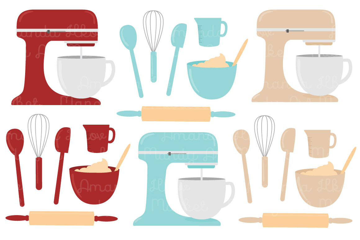 Vector Baking Clipart in Red