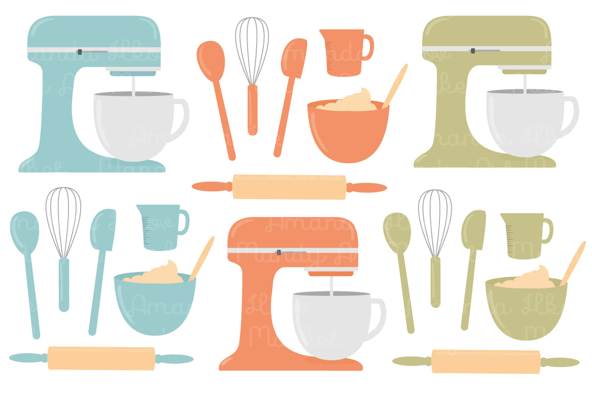 Vectors by amanda ilkov. Baking clipart vintage