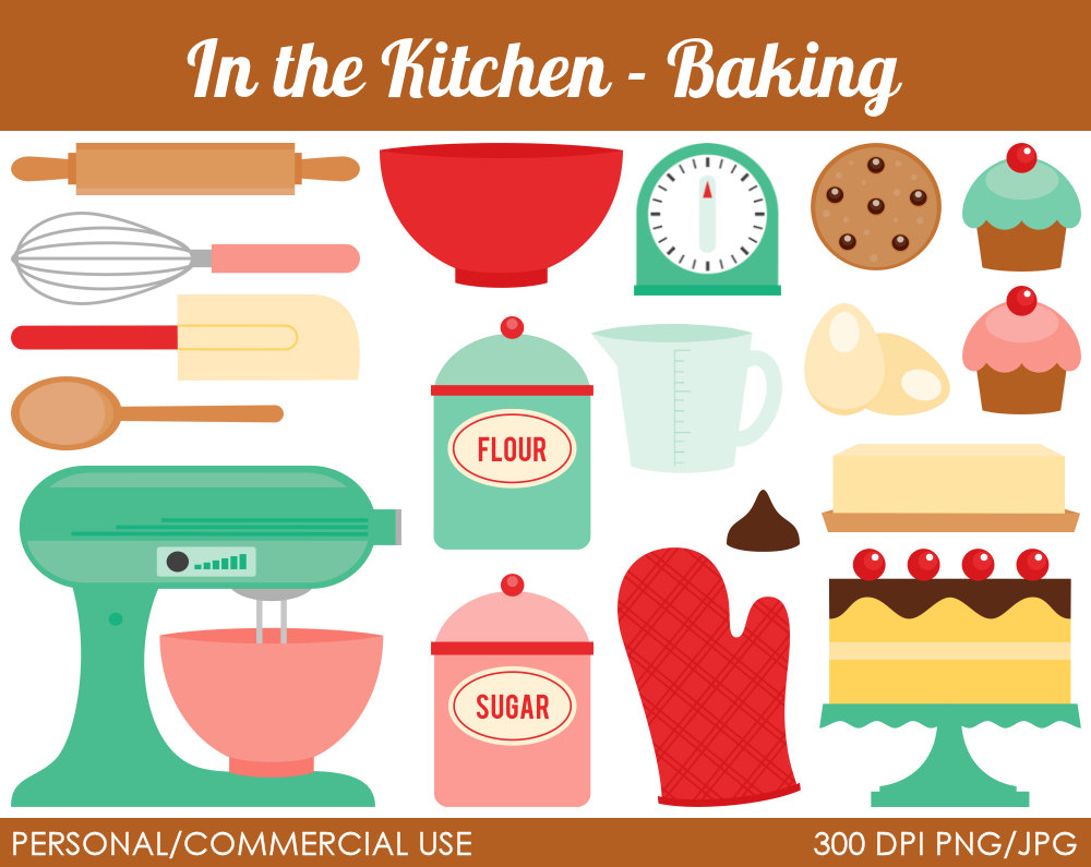 Vintage baking . Bakery clipart cartoon
