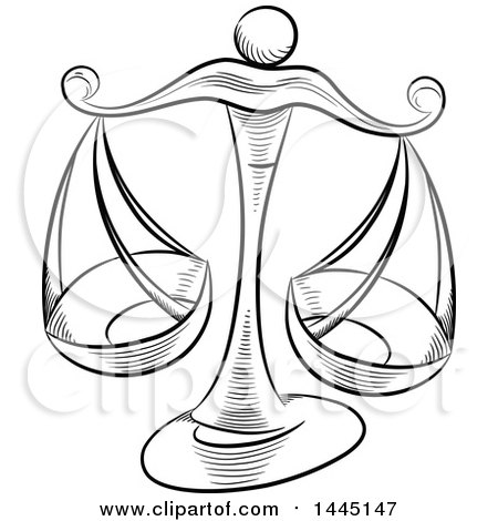 Scale drawing at getdrawings. Balance clipart black and white