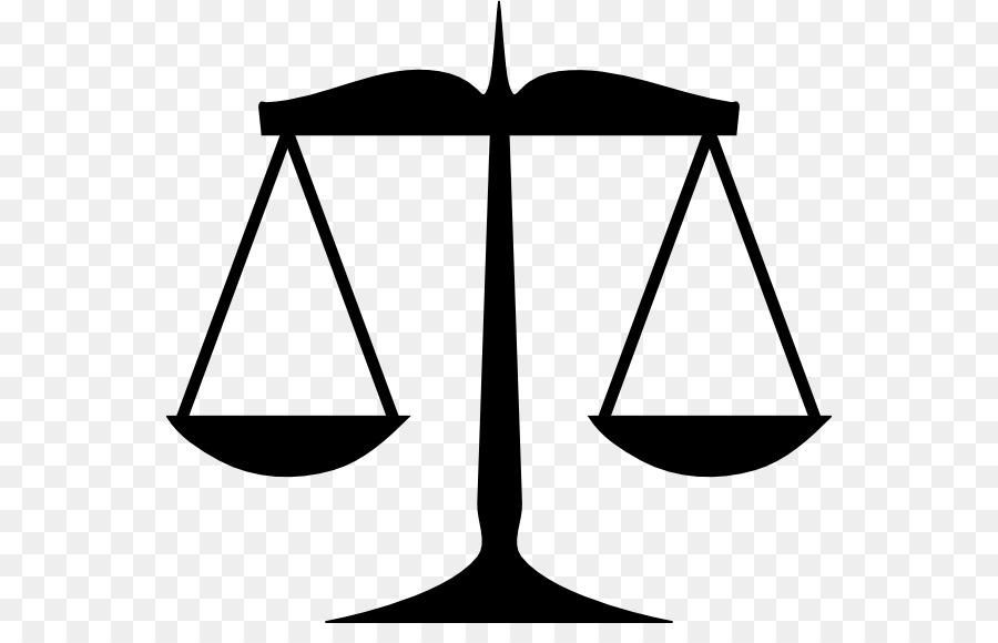 Weighing scale lady justice. Balance clipart black and white