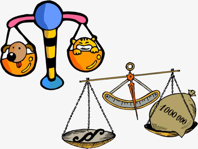 Balance clipart cartoon. Measuring instrument money png