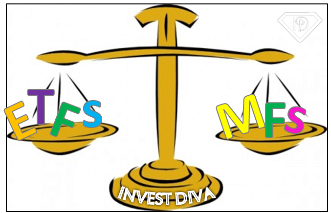 Mutual funds v s. Balance clipart comparison