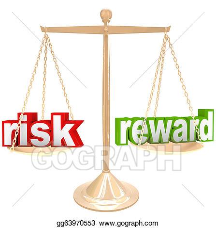 Drawing risk vs reward. Balance clipart comparison