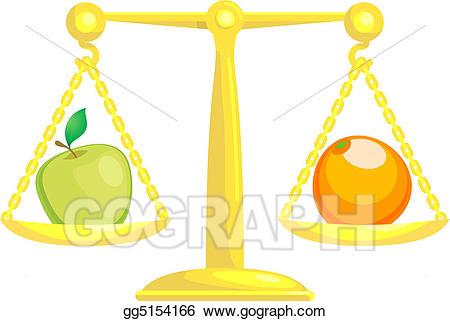 Eps illustration balancing or. Balance clipart comparison