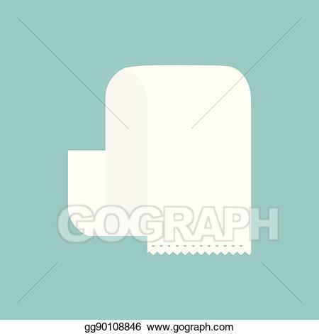 Bill clipart long. Vector empty paper illustration