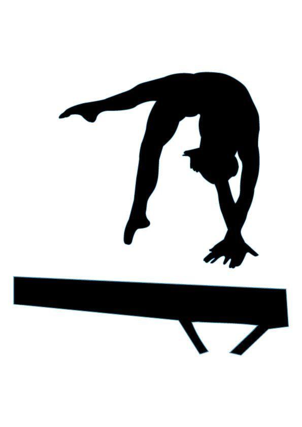 Boy on gymnastic . Balance clipart gymnastics beam