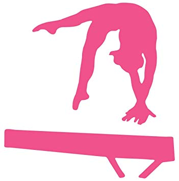 Balance clipart gymnastics beam. Amazon com wallmonkeys silhouette