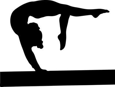 Beam silhouette at getdrawings. Bridge clipart gymnastics