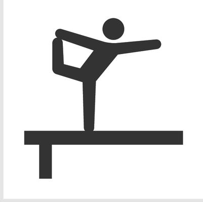 Athletics and icon set. Balance clipart gymnastics beam