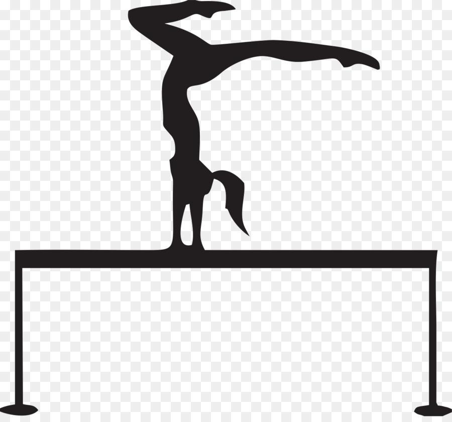 Balance clipart gymnastics beam. White background black