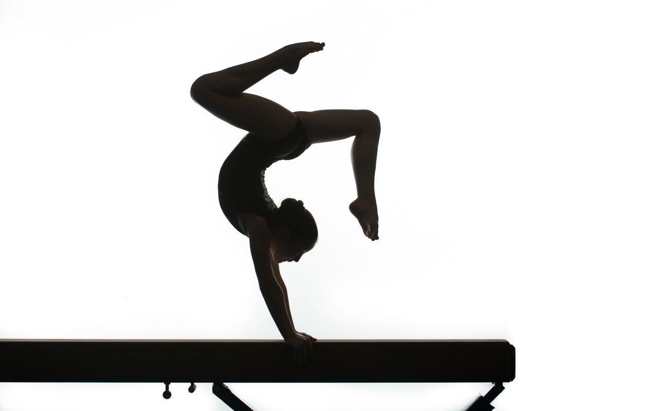 Balance clipart gymnastics beam. Silhouette handstand clipartsgram com