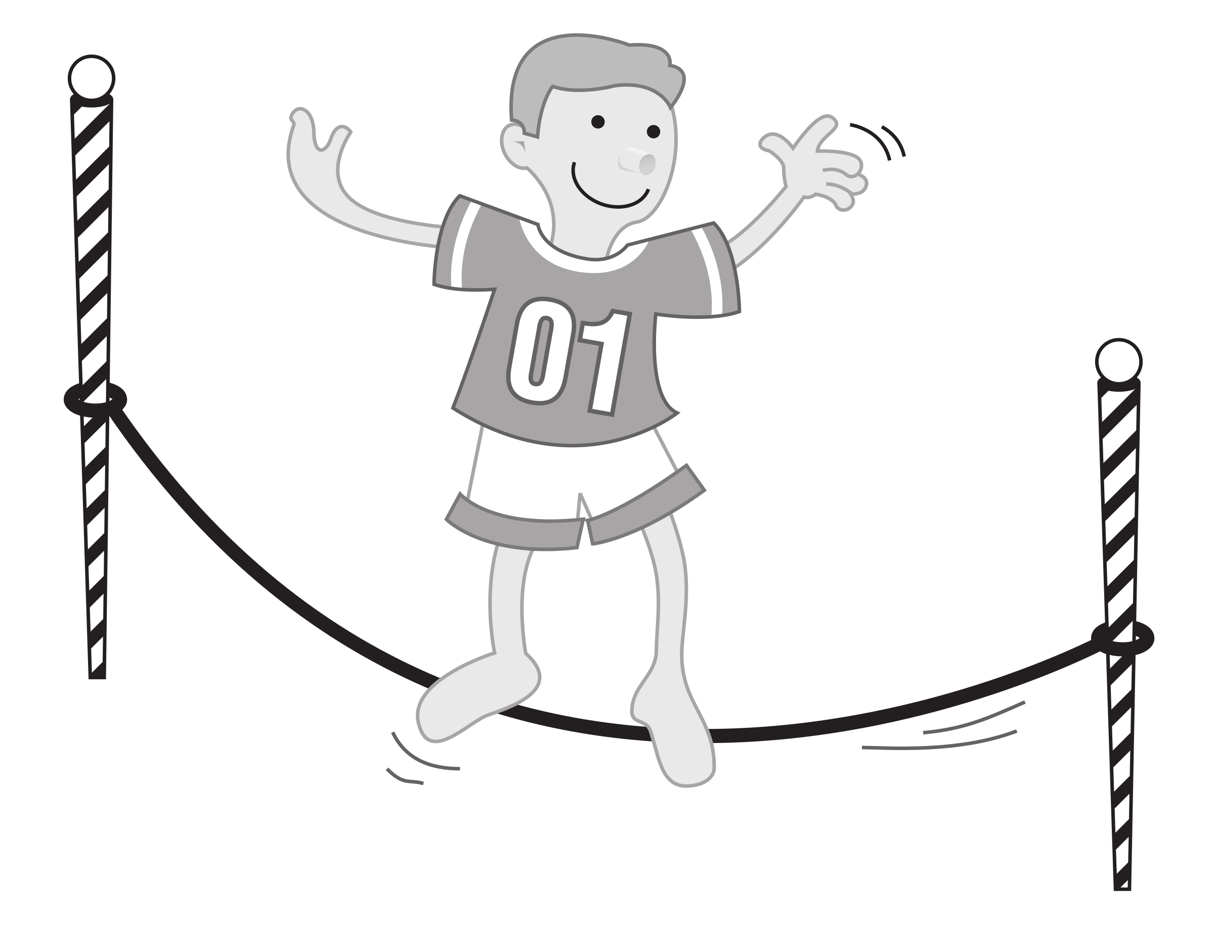 Government clipart kid. Balancing on a string