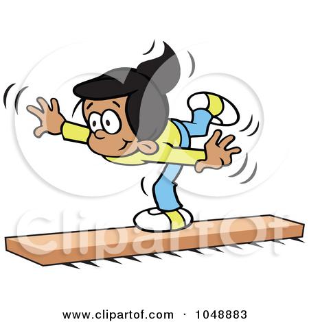 Gymnastics for kids free. Balance clipart kid