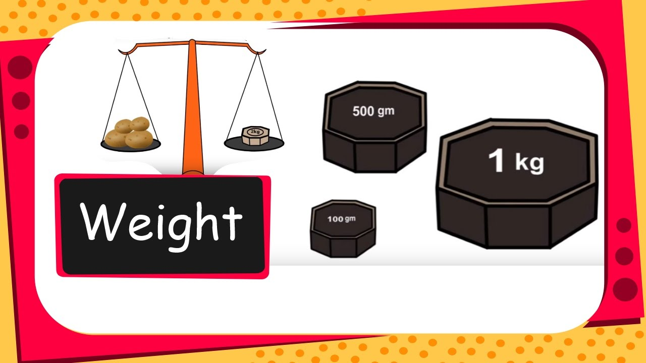 Maths measurement english youtube. Weight clipart right