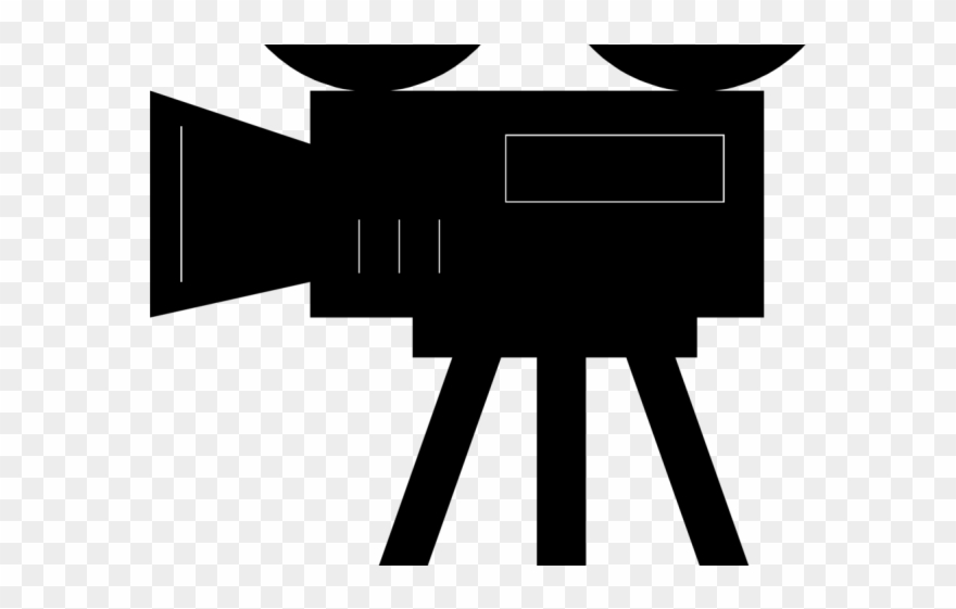 Movie film cartoon png. Camera clipart old fashioned