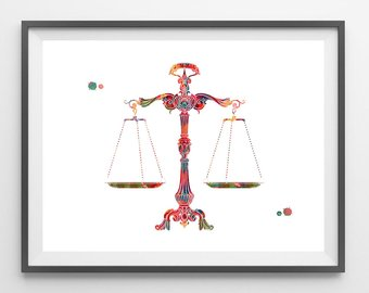 Scales of justice etsy. Balance clipart old fashioned