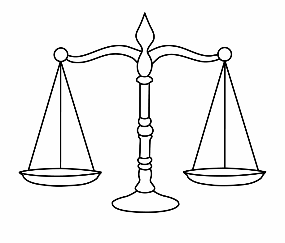 Balance clipart scale. Law coloring page free