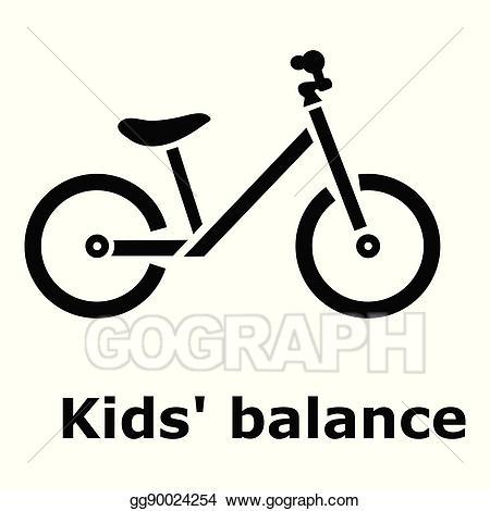 Bike clipart simple. Vector art kids balance