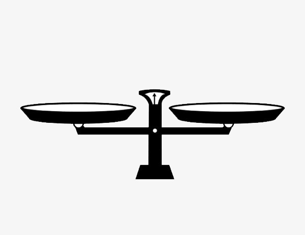 Balance clipart simple. Black pen tray scales