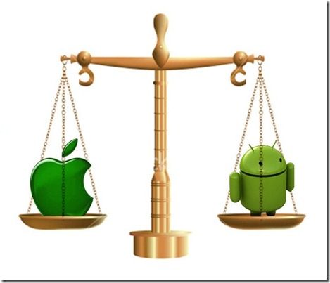 Android vs iphone a. Balance clipart unbiased