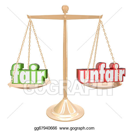 Justice clipart fair justice. Drawing vs unfair words