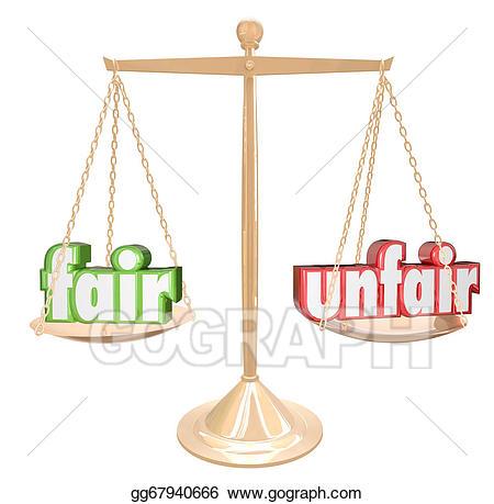 Balance clipart unbiased. Drawing fair vs unfair