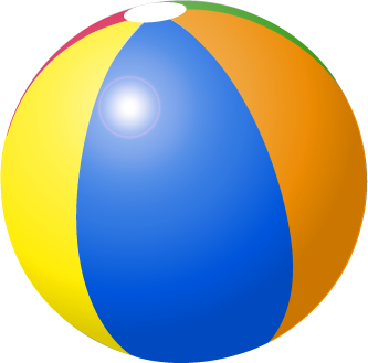 Beachball clipart pool floats.  ball