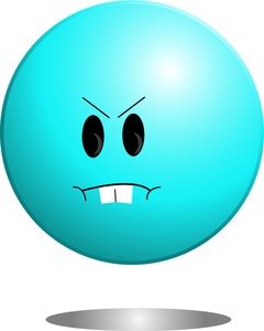 Anger image angry icon. Ball clipart animated