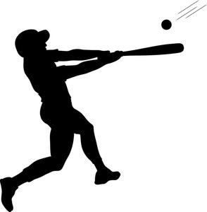 Batter image swinging at. Ball clipart baseball bat