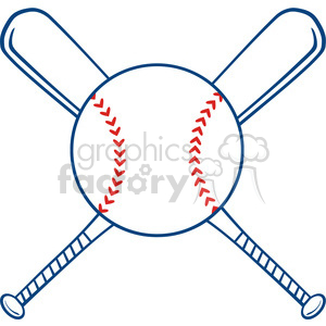 Ball clipart baseball bat. Royalty free two crossed