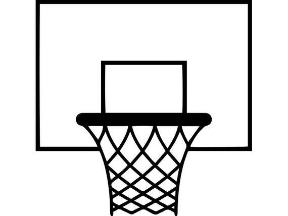 Goal backboard rim basket. Ball clipart basketball hoop