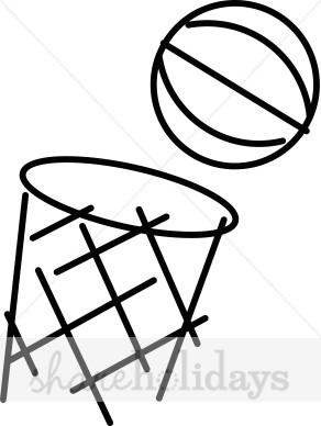 Ball clipart basketball hoop. Cartoon party backgrounds