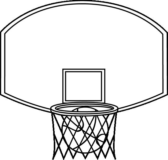 Ball clipart basketball hoop. Clip art images black