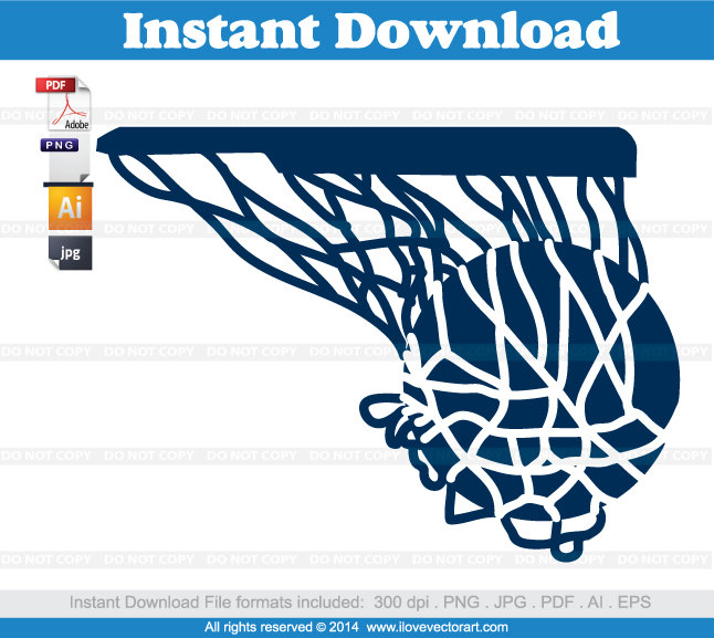 Hoop swish commercial free. Blue clipart basketball
