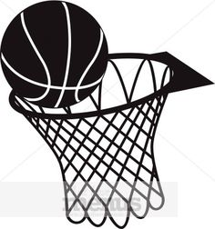Ball clipart basketball hoop. Free and excellent images