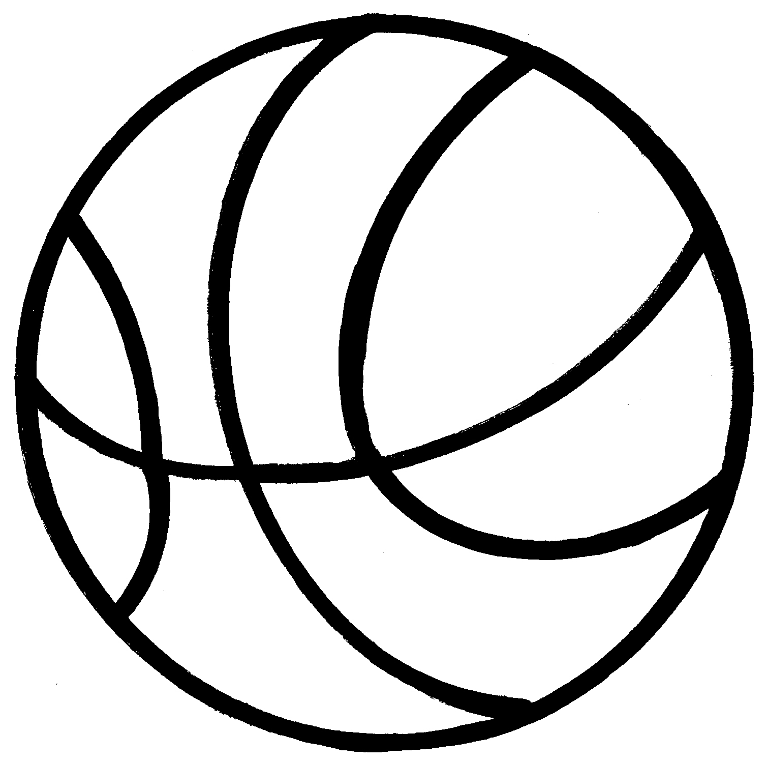 Basketball clipartuse golf balls. Ball clipart black and white