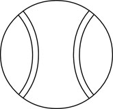 Ball clipart black and white. Tennis panda free tennisballclipartblackandwhite