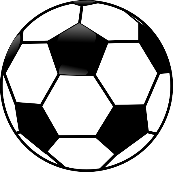 Football clipart. Black and white ball