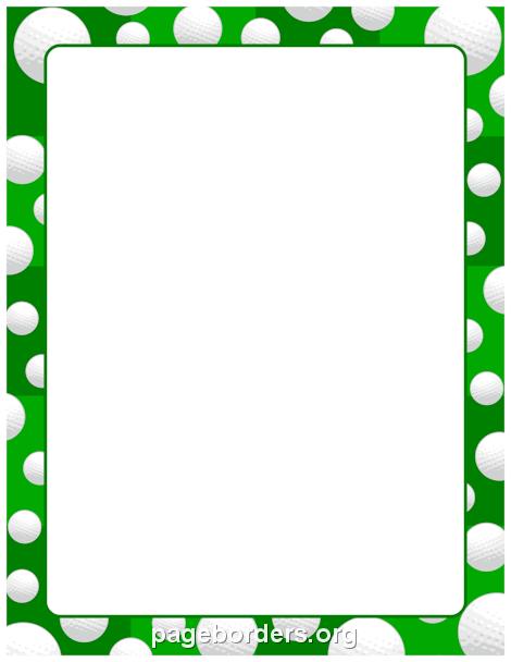 Balls clipart border. Printable golf ball use