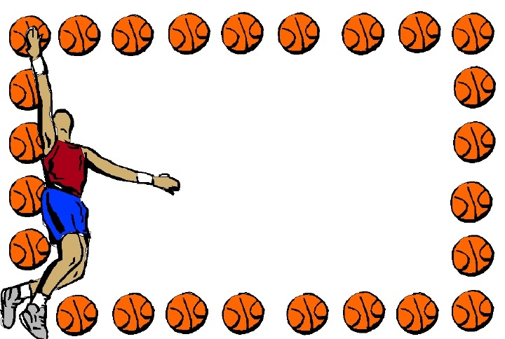 collection of free. Basketball clipart boarder