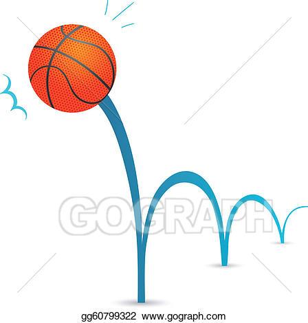 Vector bouncing illustration . Ball clipart bouncy ball