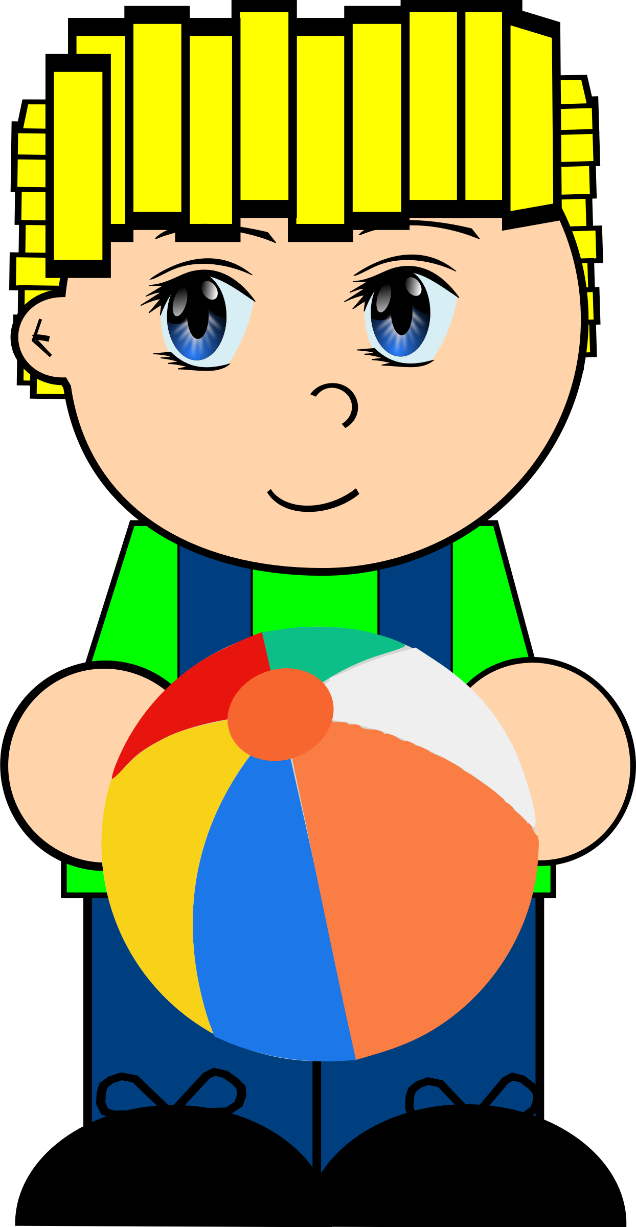 Ball clipart cartoon. Boy with big image
