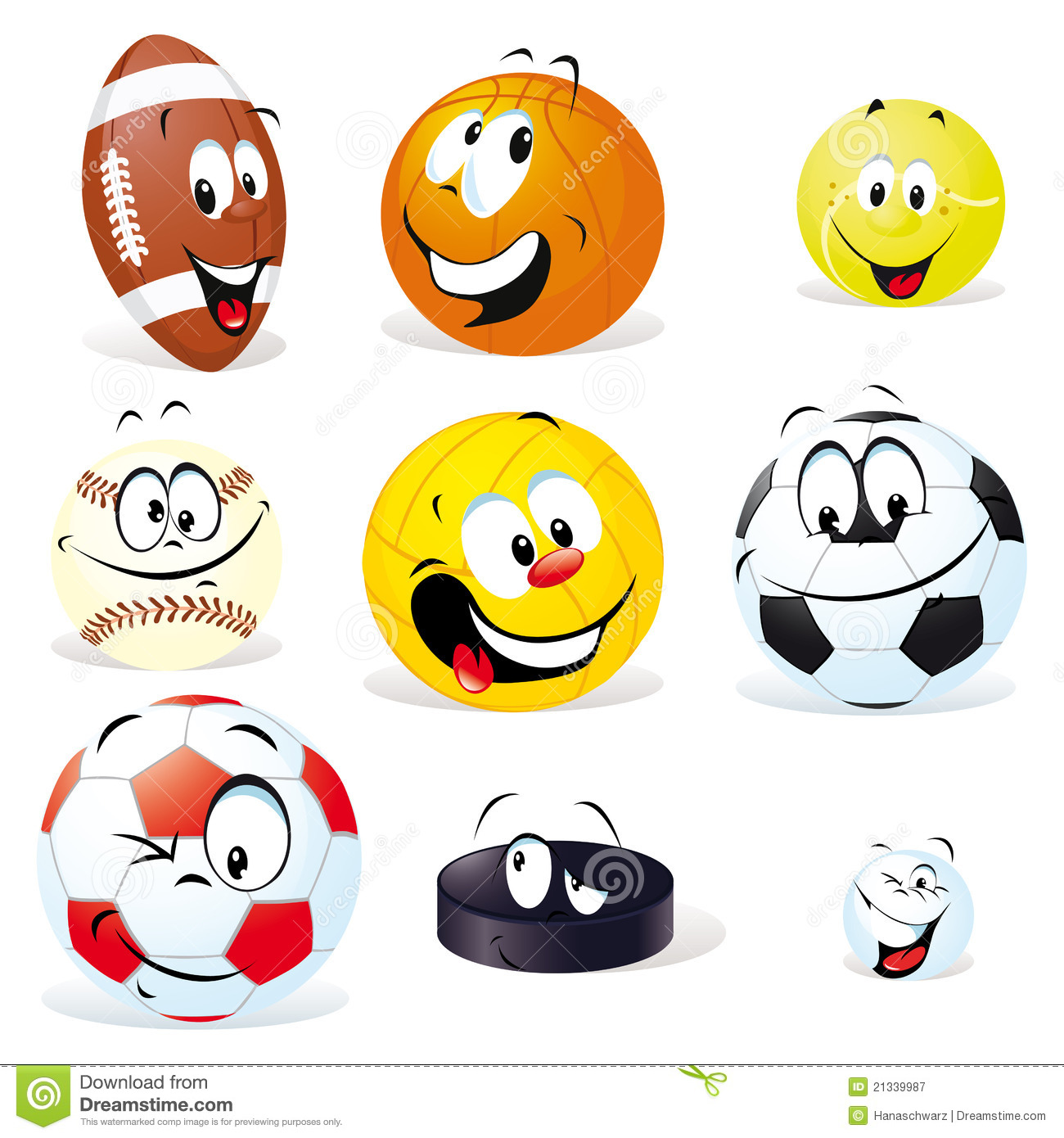 Sports . Ball clipart cartoon