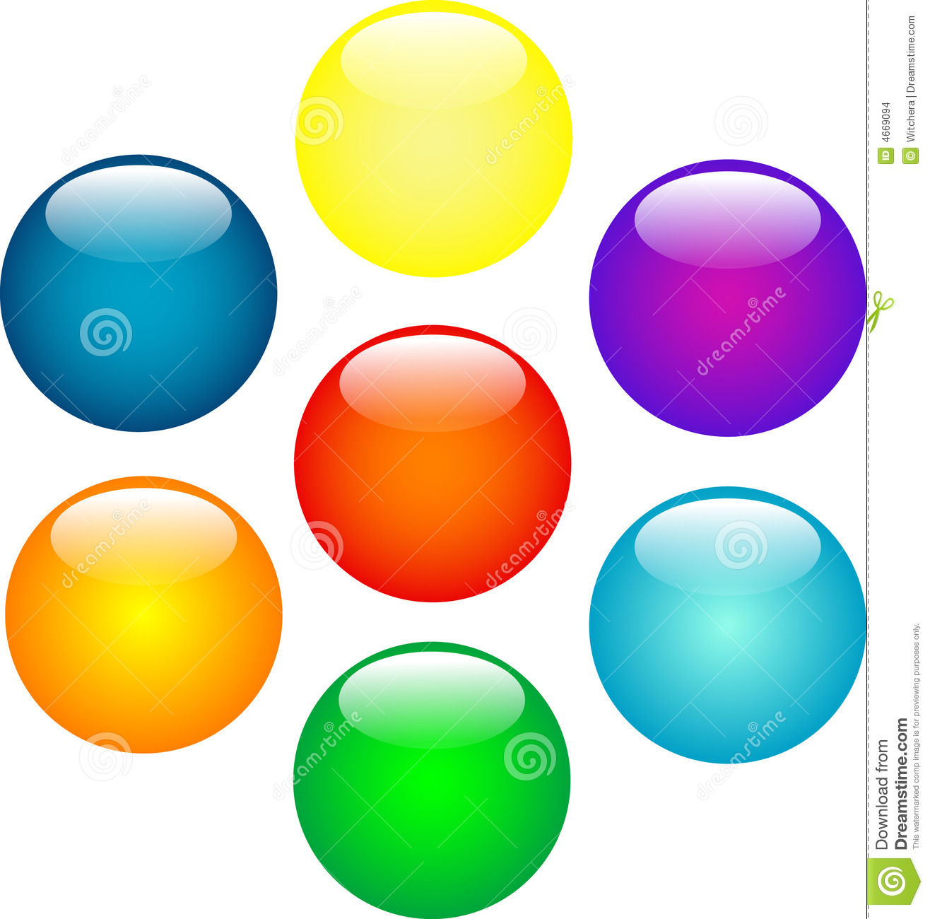 Pencil and in color. Ball clipart colored