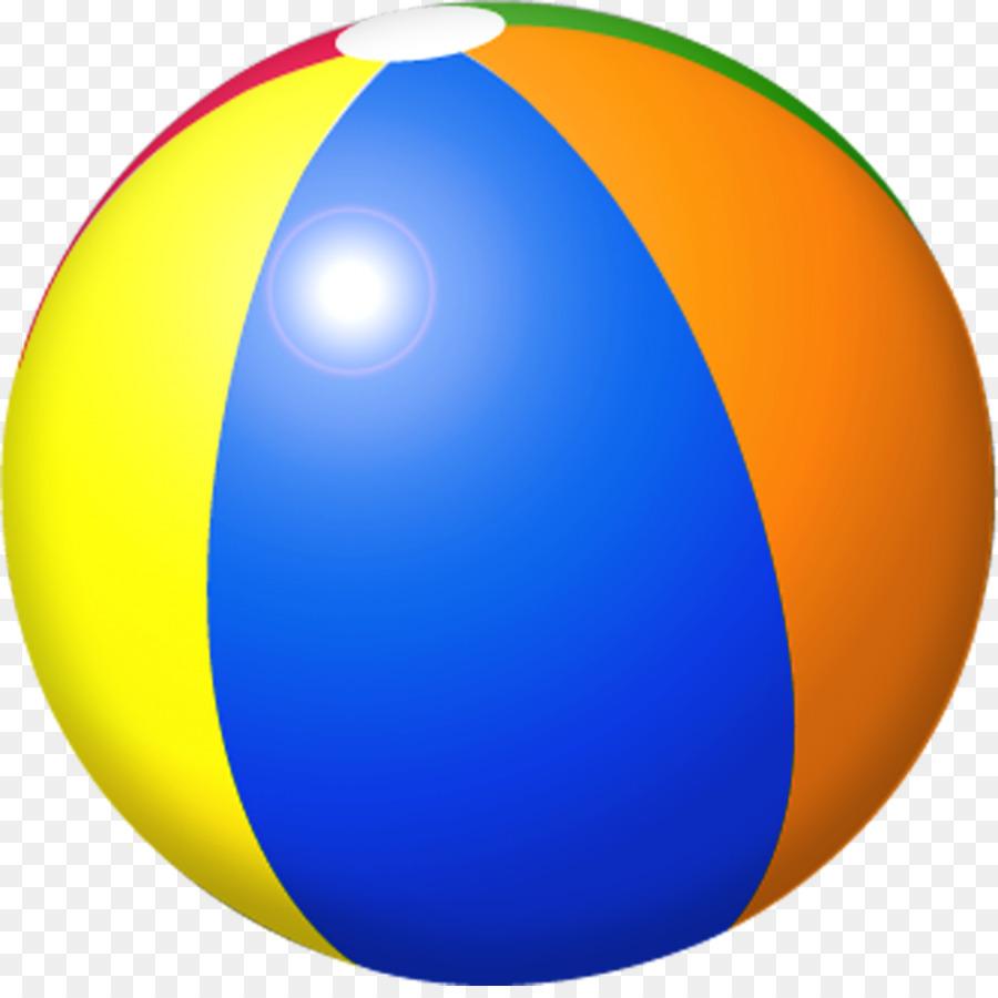 Beachball clipart colored ball. Beach color yellow transparent