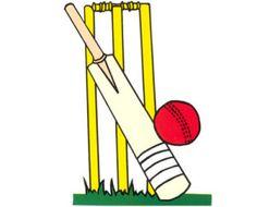 Cricket ball colouring page. Bat clipart boll