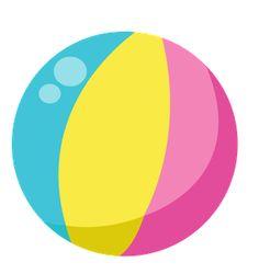 Summer beach ball clip. Beachball clipart cute